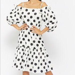Over sized black and white polka dot dress